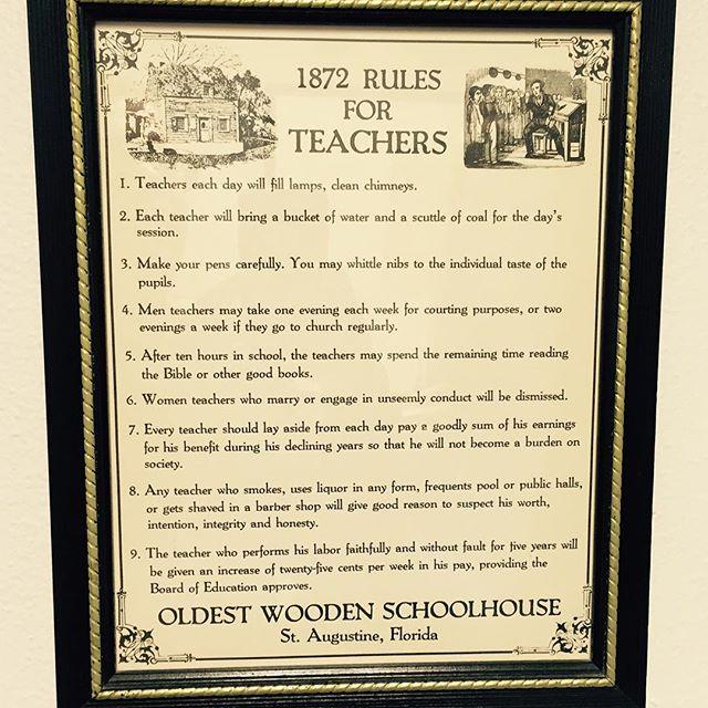 1872 - Rules for Teachers