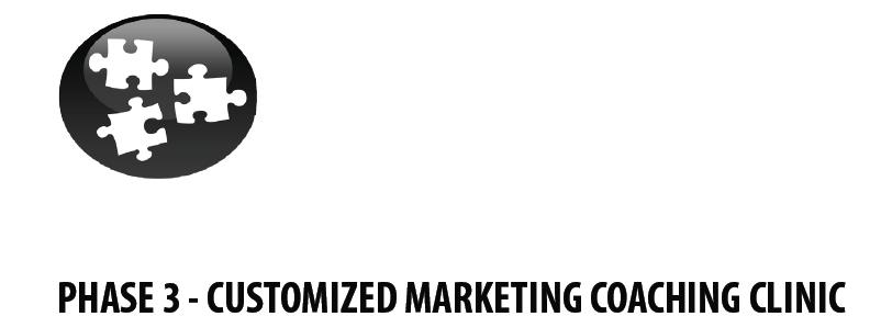 School Marketing - Phase 3 - Customized Marketing Coaching Clinic