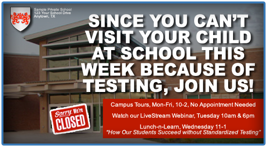 Christian school marketing - private schools vs standardized testing
