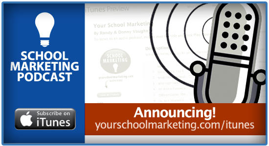 Announcing the School Marketing Podcast is now available on iTunes!