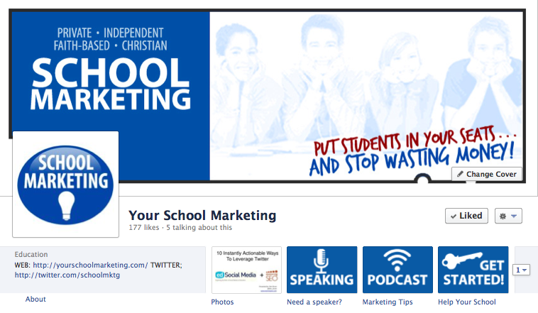 Custom Facebook pages offer a number a benefits for private schools