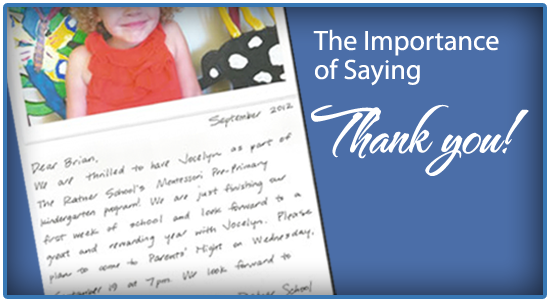 Private School Marketing - Retention - Thank You Note