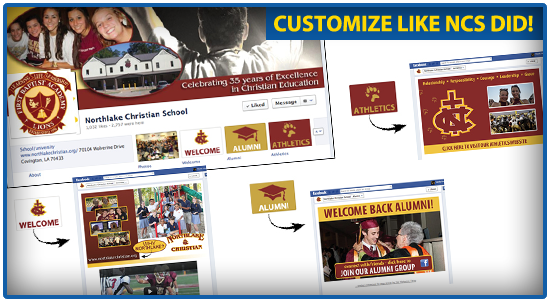 Customize Your School's Facebook Page Like Northlake Christian School