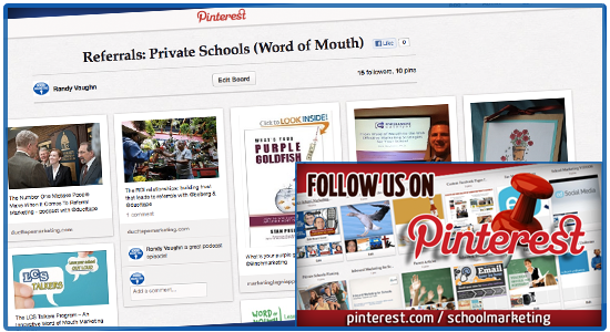 Pinterest board: Referrals & Word of Mouth Ideas for Private Christian Schools