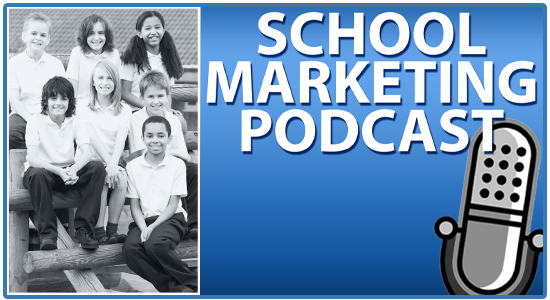 School marketing podcast 5-star reviews