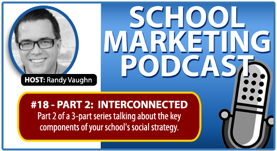 Private Christian School marketing podcast #18: Social Strategy Part 2 (Interconnected)