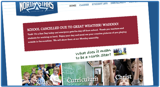 Bellingham Christian School closes because of GOOD weather