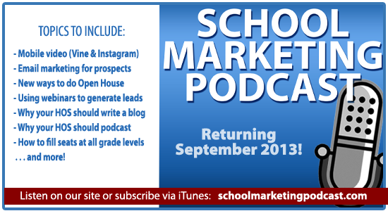 School marketing podcast returns in September!