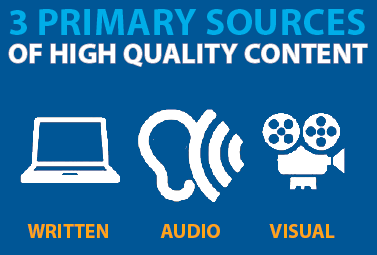 3 primiary sources of content for your school