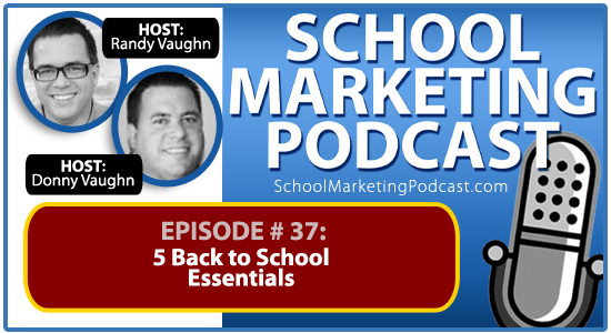 School marketing podcast #36: Who Are The Marketing Twins? (Our Story)