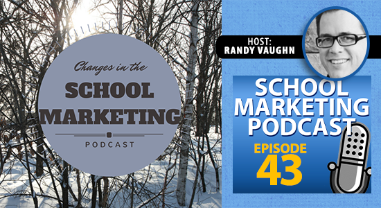 School marketing podcast changes in 2015 (episode #43)
