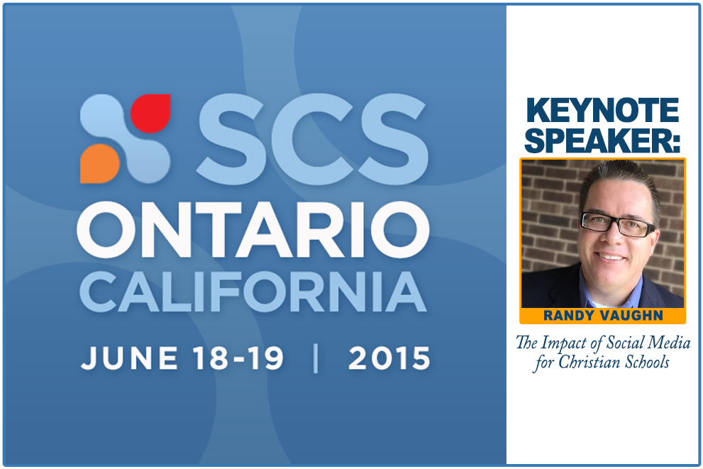 Randy Vaughn, Keynote speaker: Strengthening Christian Schools Conference, June 2015, California