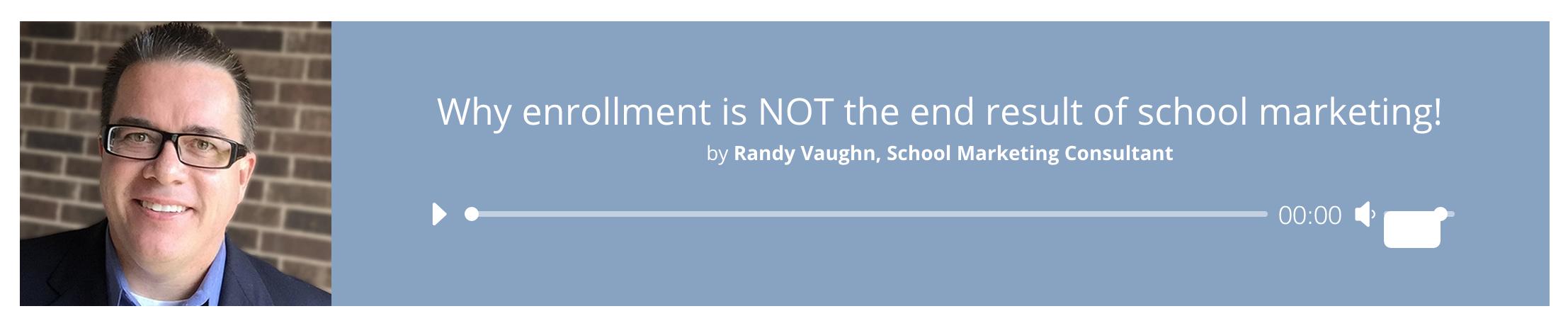 How do you define school marketing?
