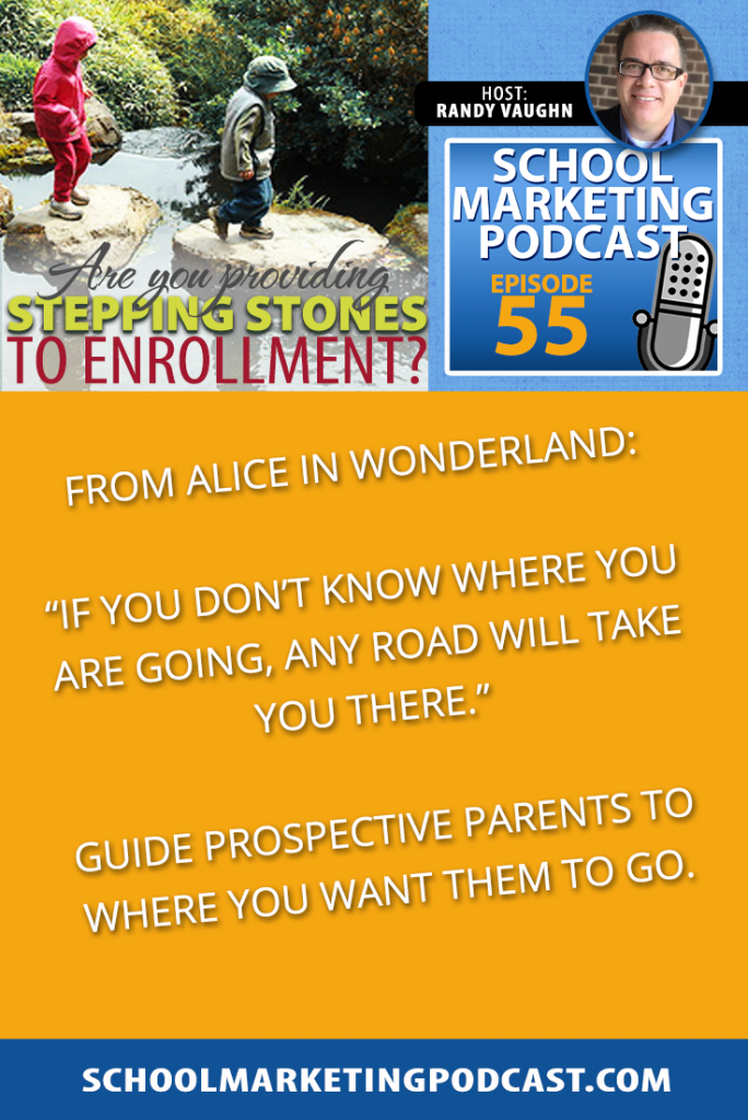 Are you providing stepping stones to enrollment? School Marketing Podcast #55 with Randy Vaughn