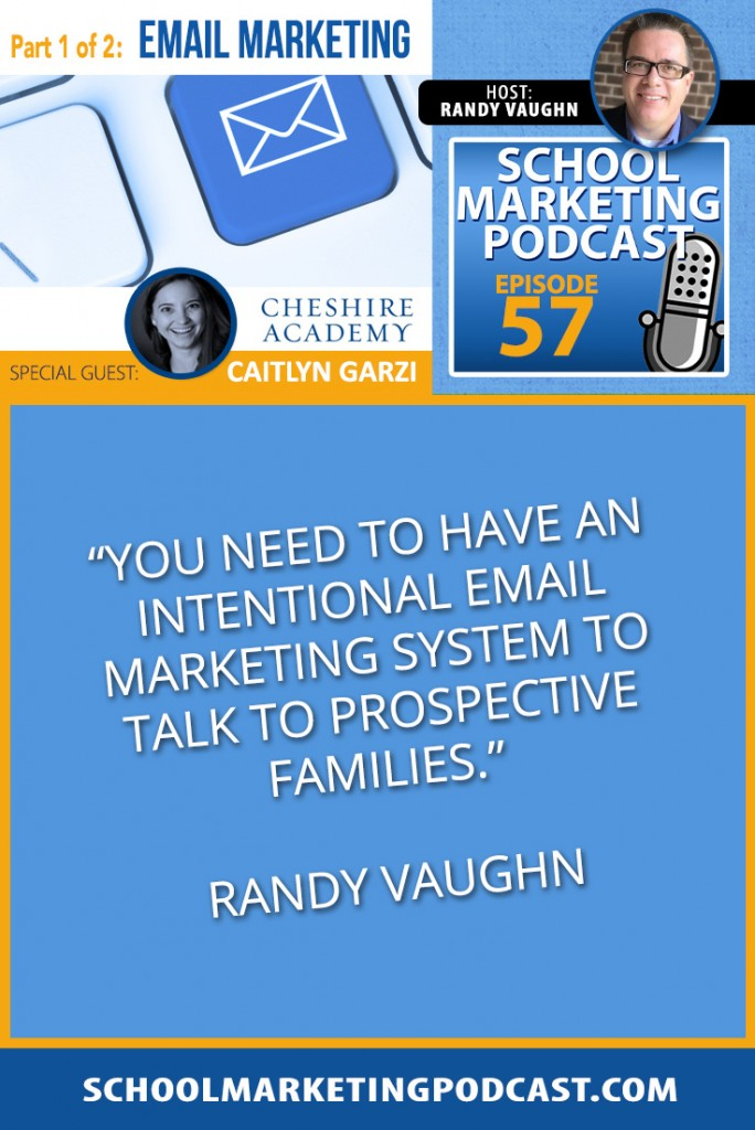 Using email marketing to guide prospects to enrollment with @cayg118 (podcast #57)