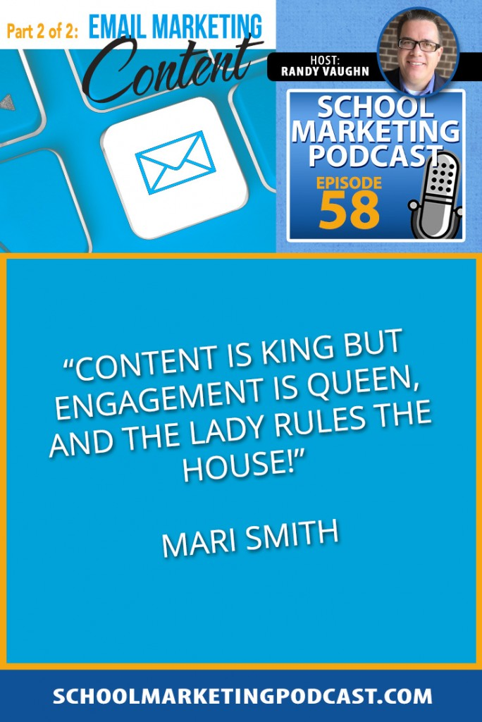 Email marketing content ideas for growing and nurturing your list (podcast #58)