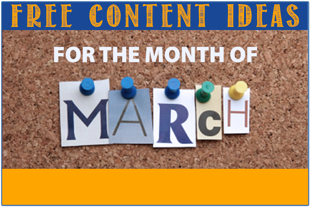March content ideas for your private school