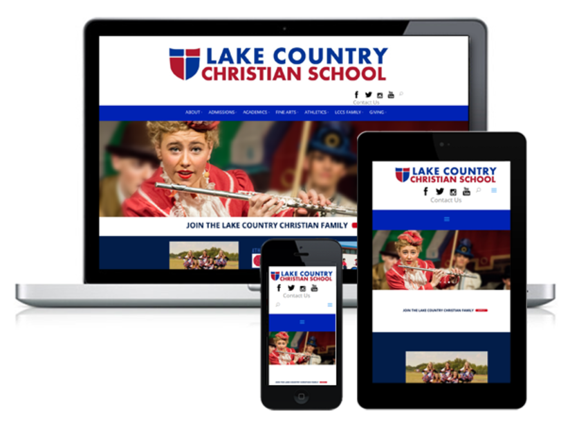Christian school mobile friendly and responsive websites