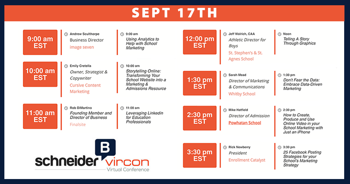 @SchneiderB VirCon 3 registration now open: 7 amazing presenters all in 1 day!