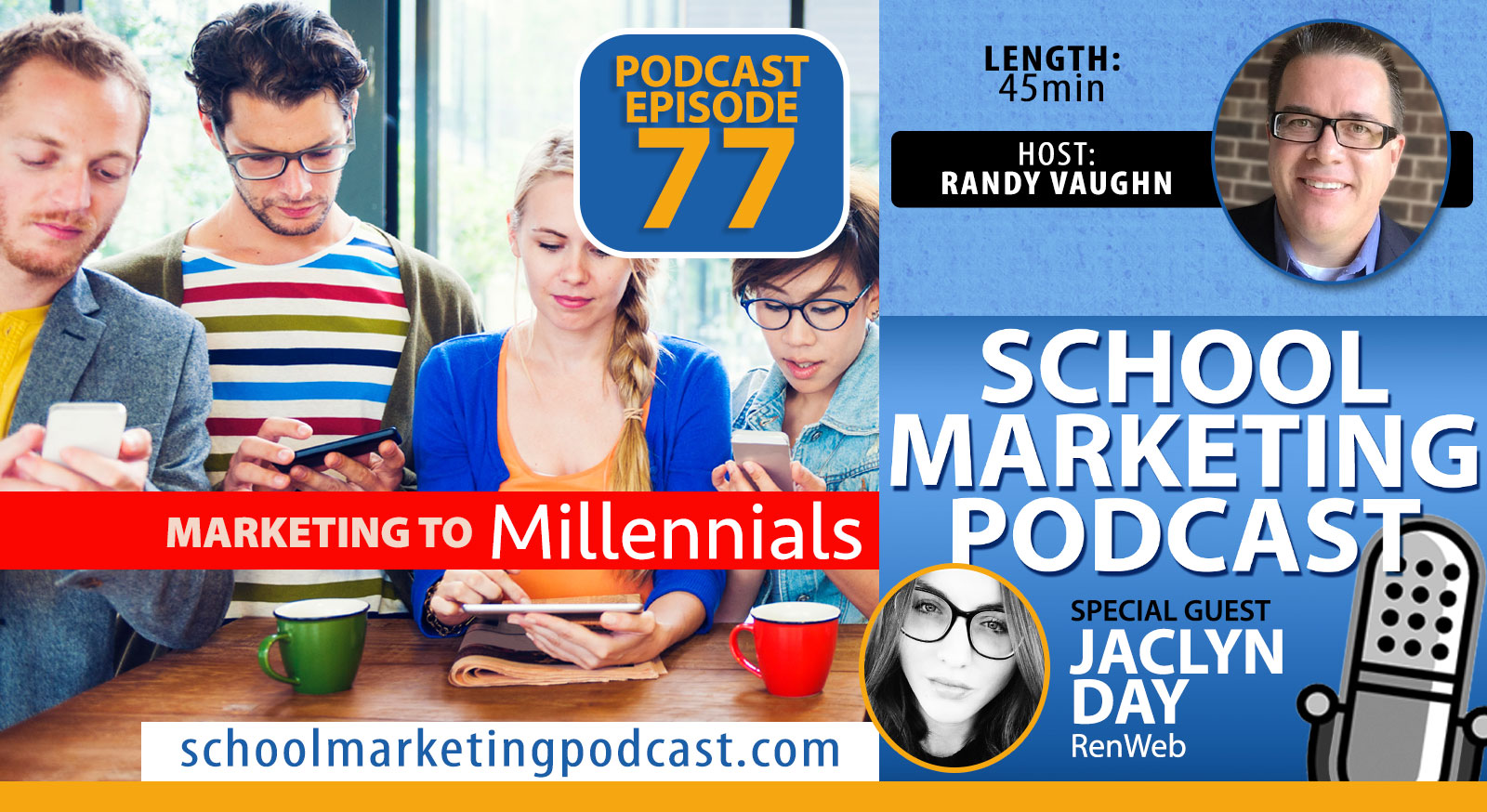 Marketing to Millennials - School Marketing Podcast Interview w @RenWebPower Jaclyn Day & @SchoolMktg