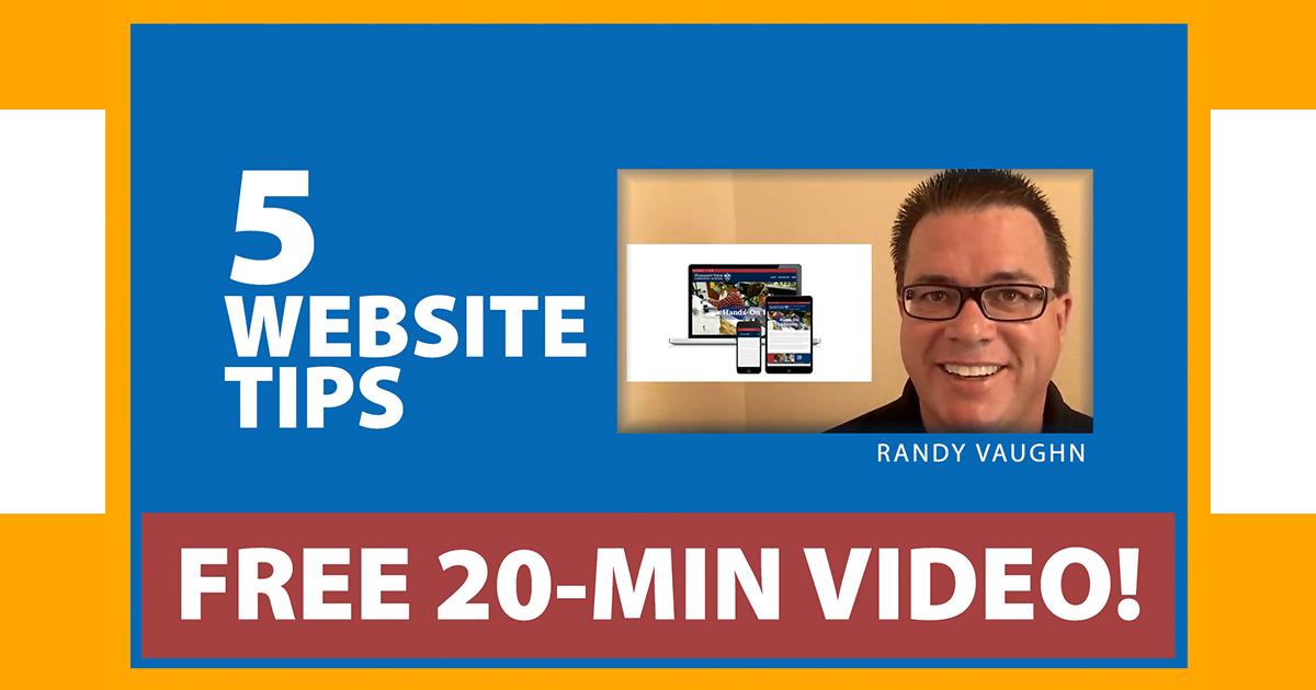 School Marketing Website Tips - Randy Vaughn