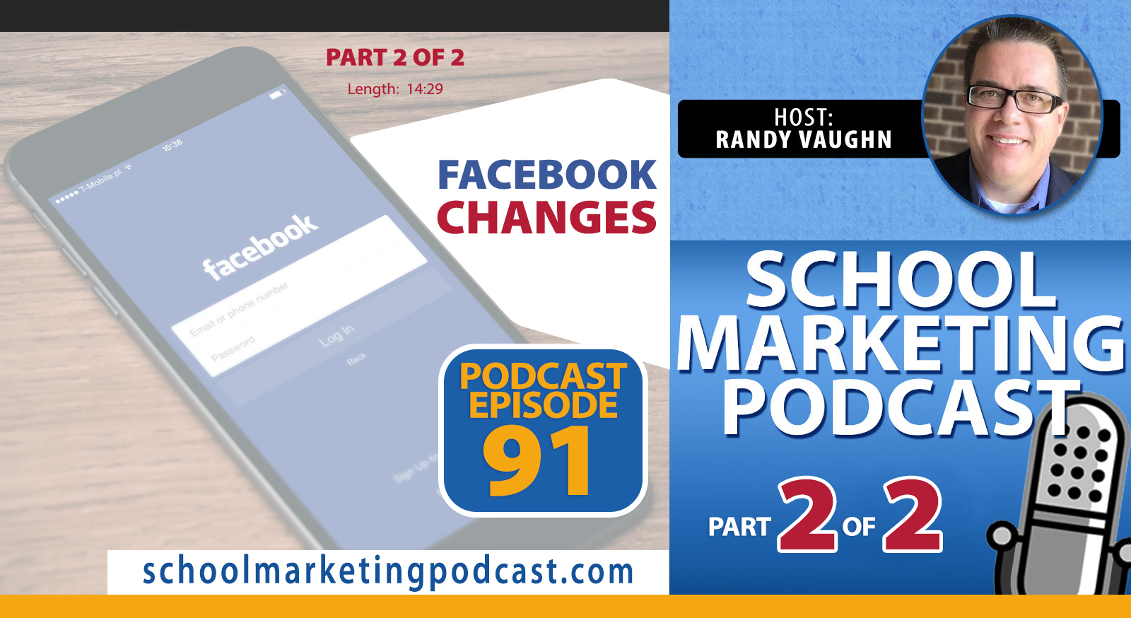Panic or Peace (Part 2 of 2): How to React to the Latest Facebook Changes for Your School - (School Marketing Podcast #91)